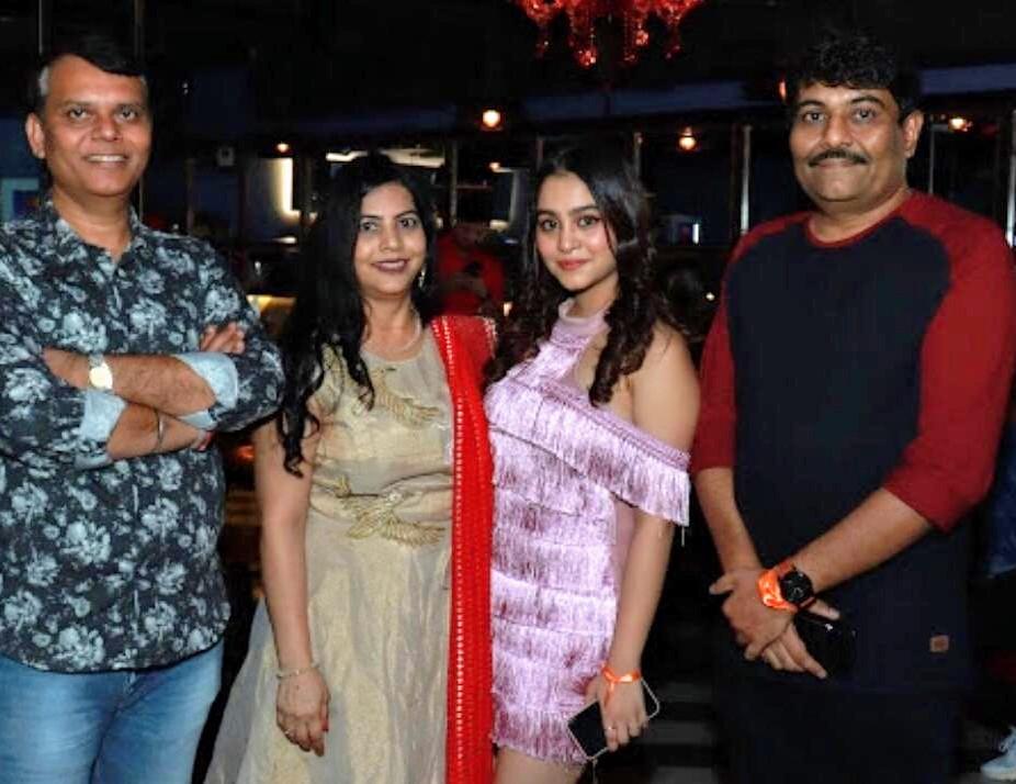 L-R Sanjay Trivedi, Anju Patel, Kristina Patel and writer-director Aashu Patel